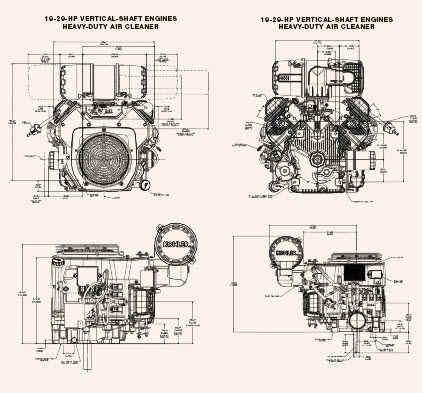ECH-ECV EFI19HP THRU 29HP DRAWINGS : Kohler Engines and