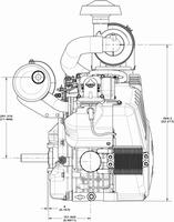 Briggs & Stratton Engine 613477-0268-J1 35 hp Horizontal