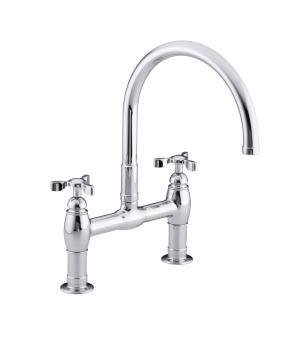 bridge faucets kitchen cabinets clearance kohler canada k 6130 3 parq deck mount faucet
