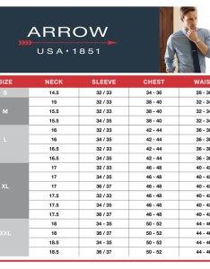 Arrow size chart also men   classic fit dress shirt rh kohls
