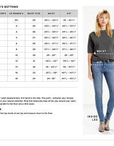 Levi   size chart also women straight jeans rh kohls