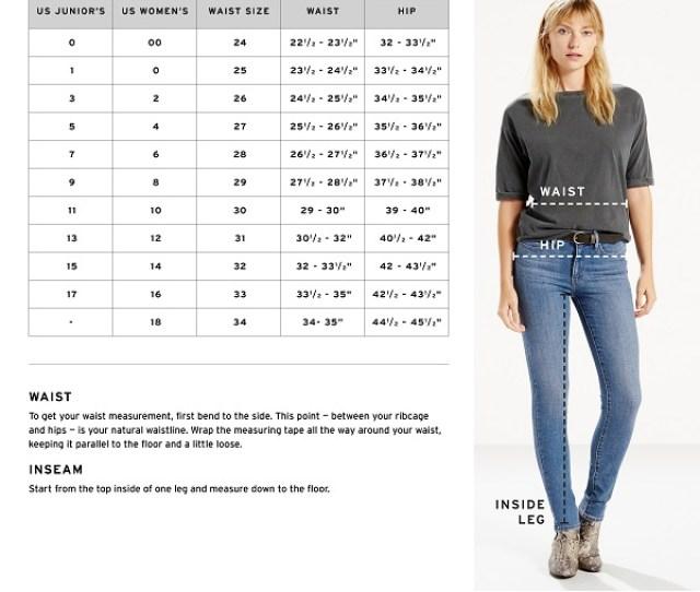 Levis Size Chart