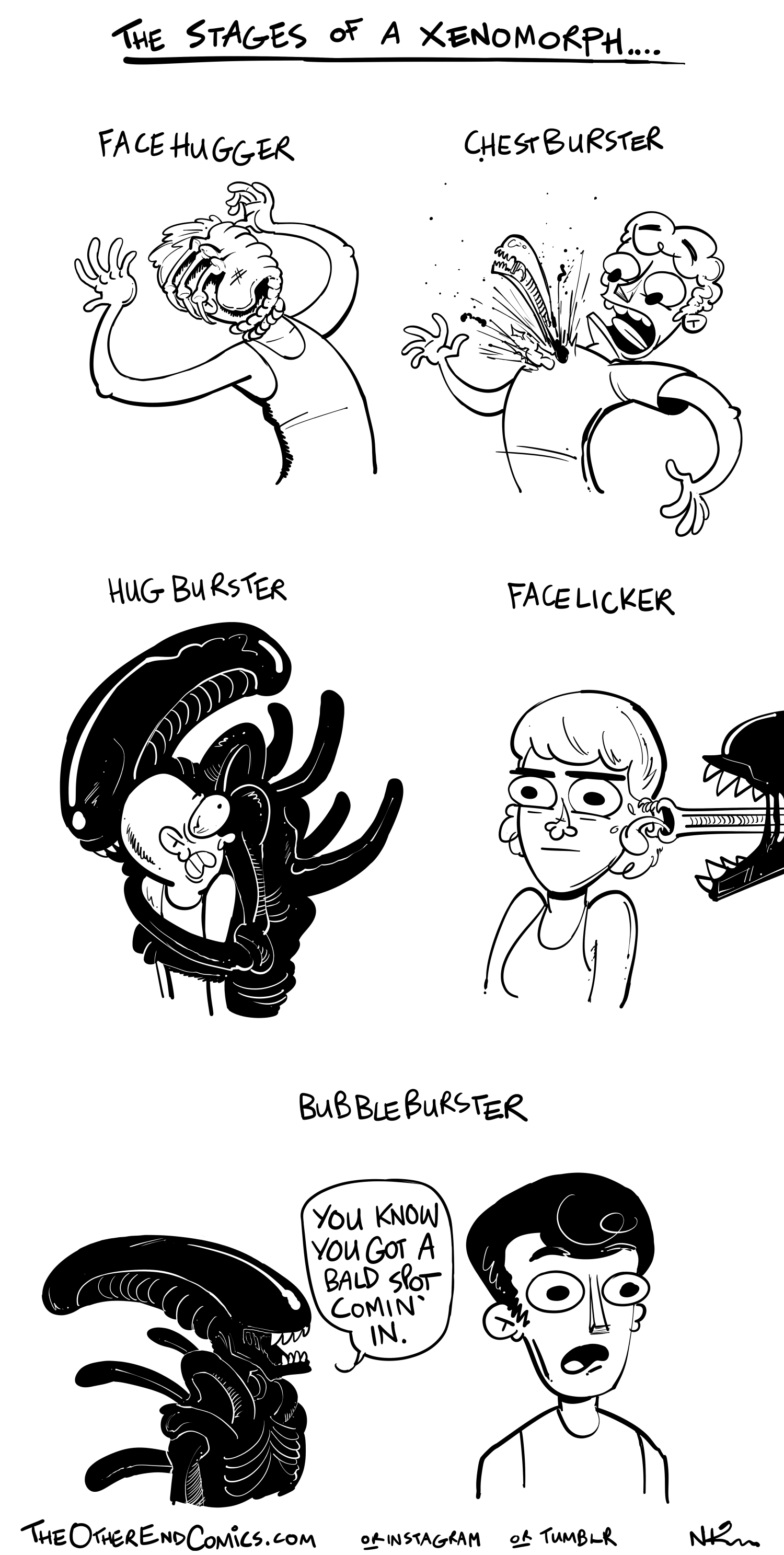 The facelicker comes before the hug buster. This comic is so fake.