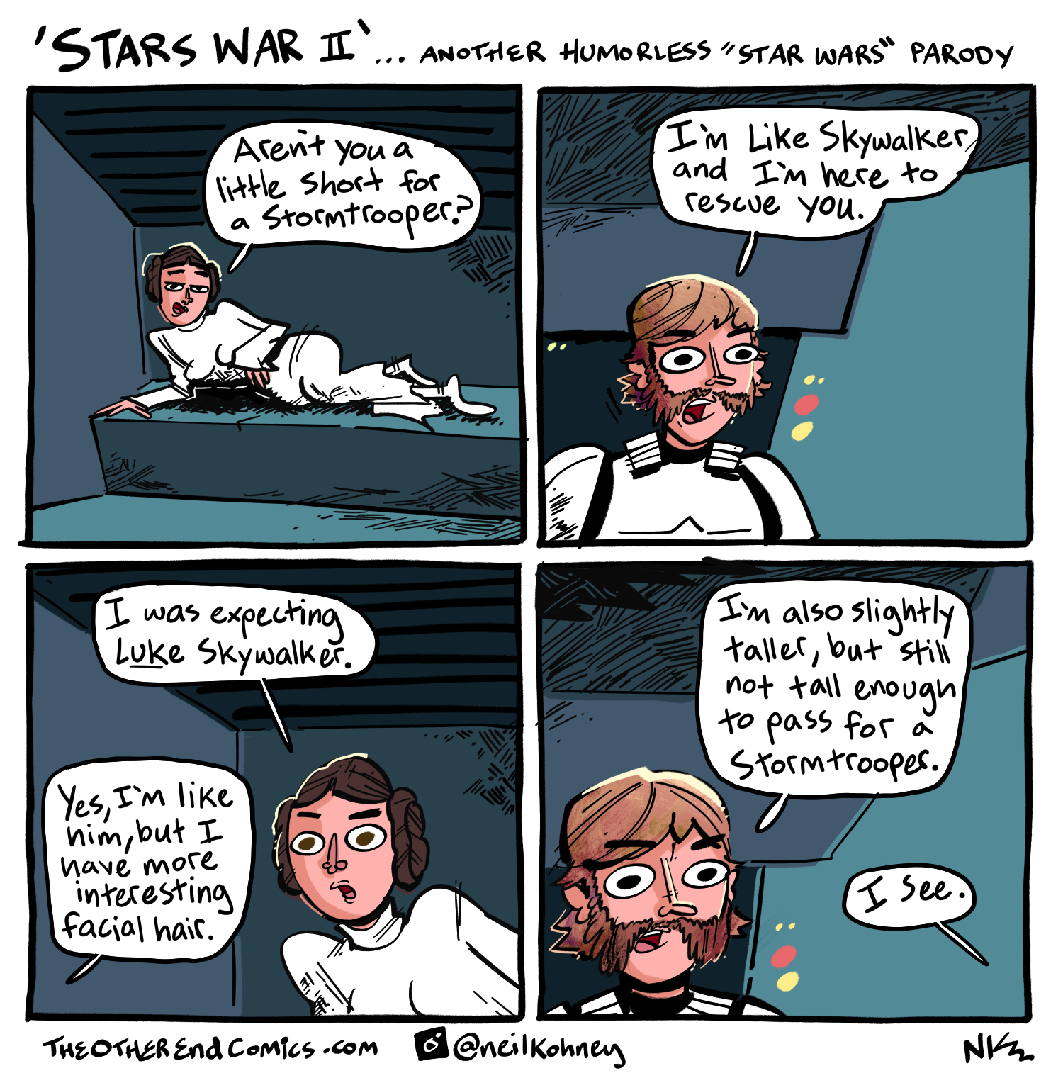 That's just Bigger Luke, of the famous Bigger Luke theory. This comic is so fake.