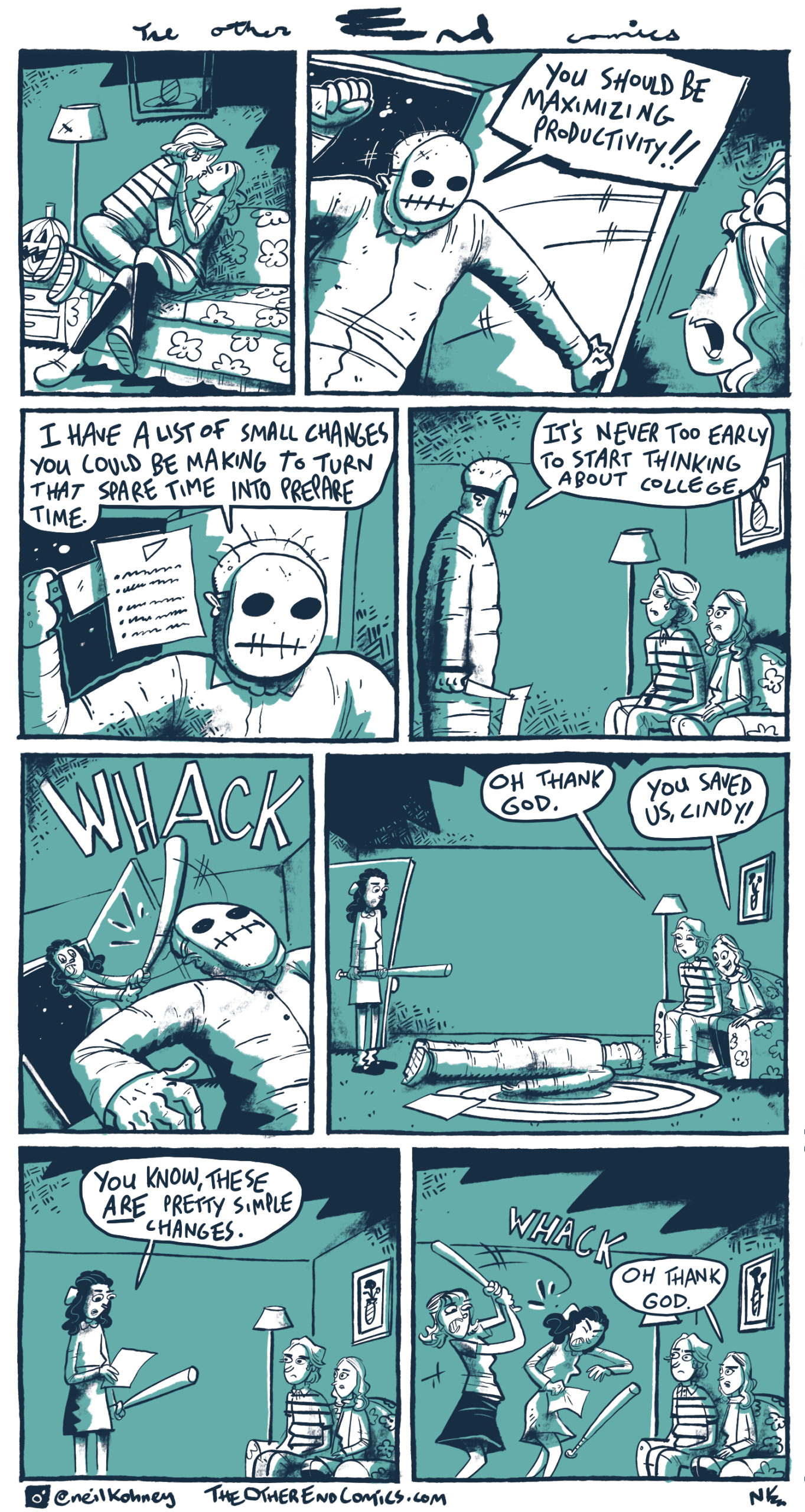 That jack-o-lantern disappears after panel 1. This comic is so fake.