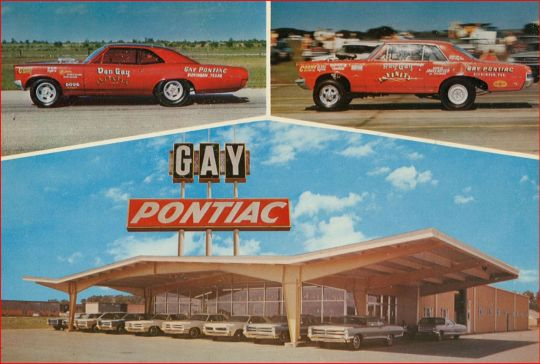 Gay Pontiac postcard - Houston, Texas U.S.A. - 1967
