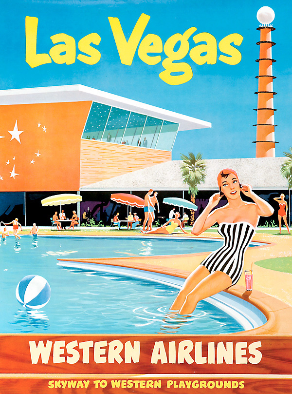 Western Airlines poster - Las Vegas - date unknown
