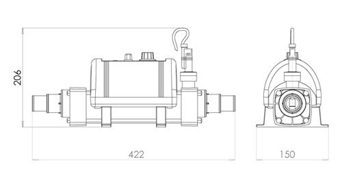 Elecro Nano Koi Pond Heater Titanium (White Enclosure