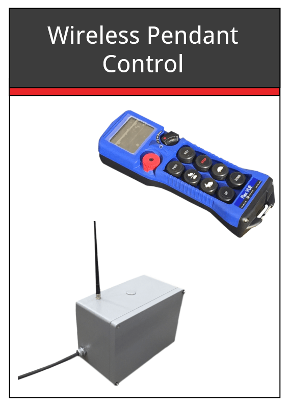 Wireless Pendant Control for Headstock  Tailstock