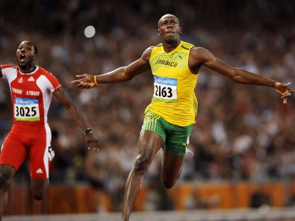 Usain Bolt arrow