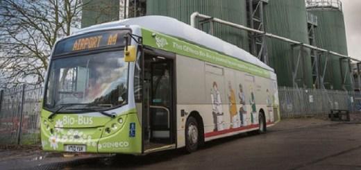 cacca bus autobus alimentato con gli escrementi merda umana