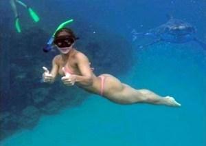 E' l'ora dello spuntino donna mangiata da uno squalo