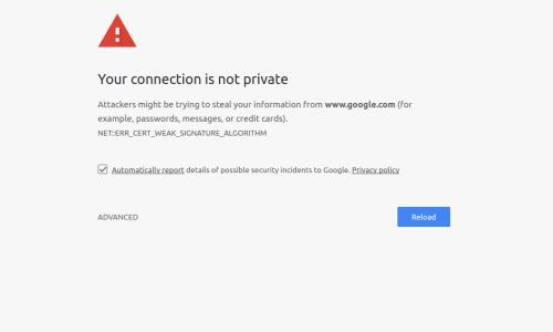 Chrome la connessione non è privata - Avast risolto 1