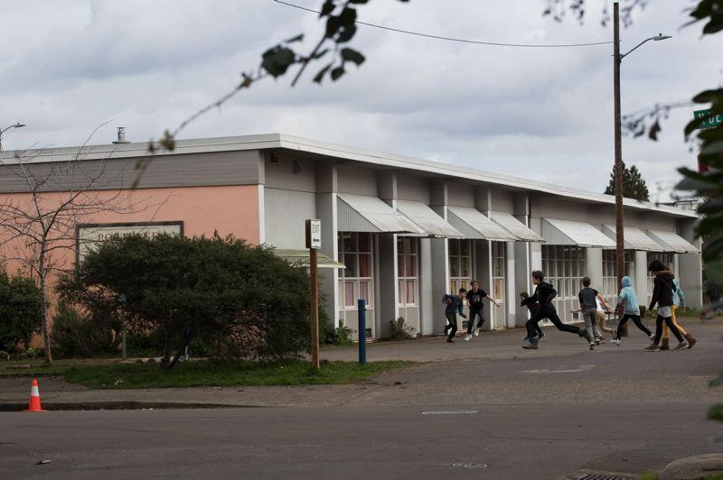 Children play at the Portland Village School.