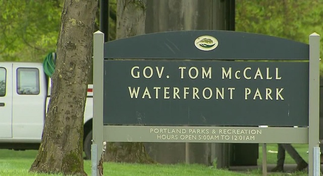 The sign at Tom McCall Waterfront Park (KOIN)_160393