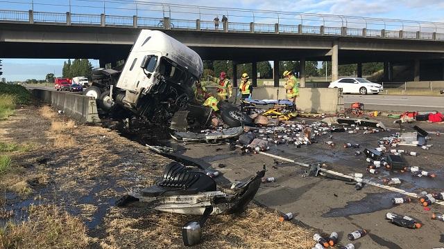 semi truck crash Albany Gatorade spill 06082019_1560019482551.jpg.jpg