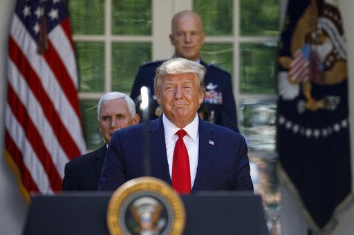 Donald Trump, Jay Raymond, Mike Pence, Mark Esper