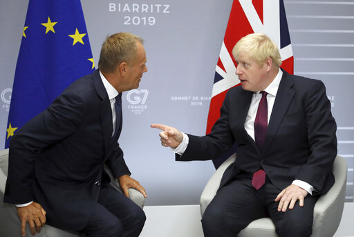 Boris Johnson, Donald Tusk