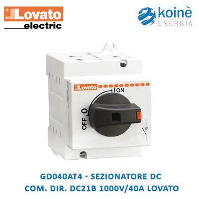 GD040AT4 Lovato Sezionatore dc