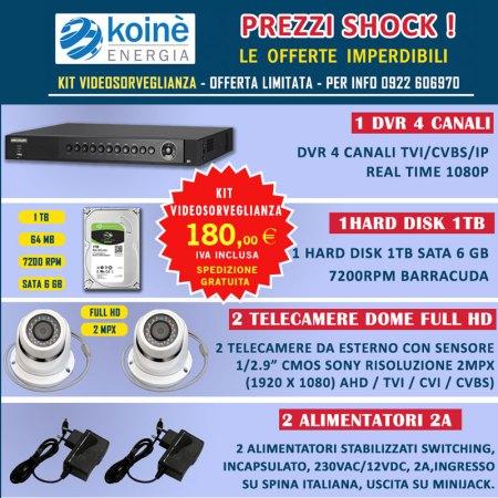 kit videosorveglianza in offerta