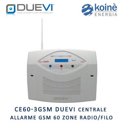CE60 3GSM Duevi Centrale allarme