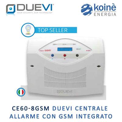 DUEVI CE60 8GSM Centrale allarme