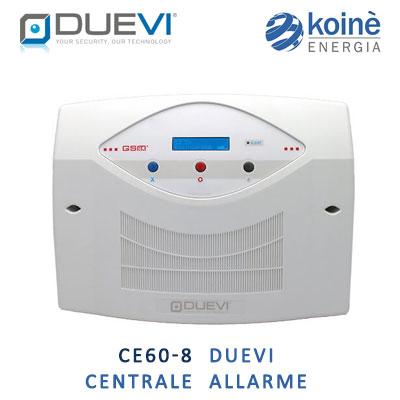 CE60-8 DUEVI centrale allarme