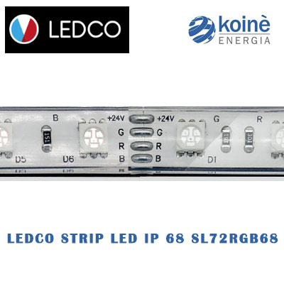LEDCO STRIP LED IP 68 SL72RGB68