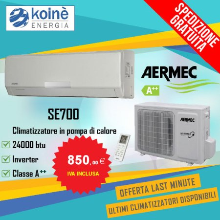 condizionatore aermec 24000 btu se700