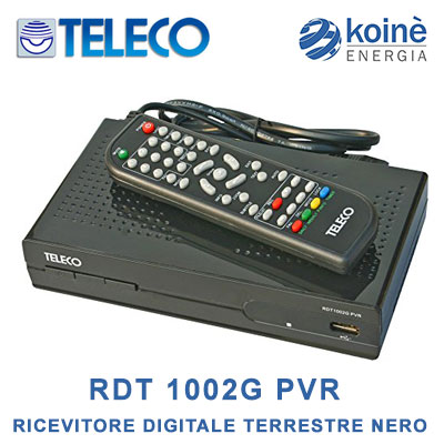teleco rdt 1002g pvr ricevitore digitale terrestre