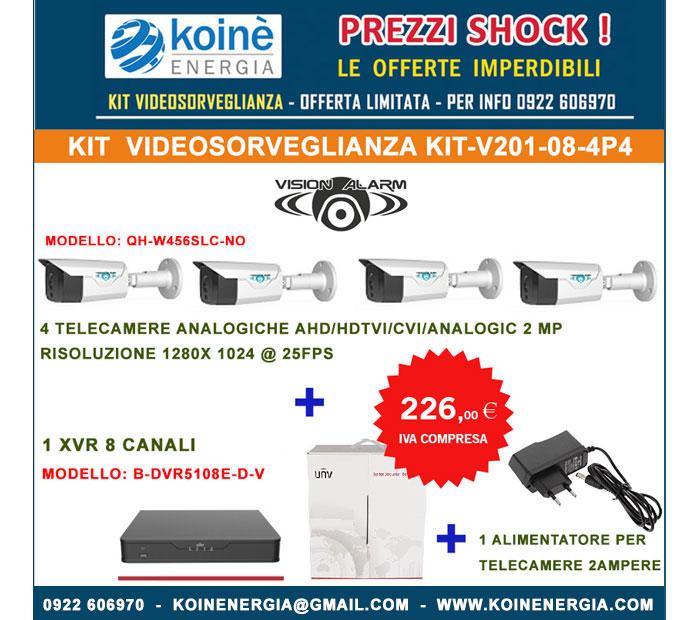 KIT-V201-08-4P4 kit videosorveglianza nivian alarm