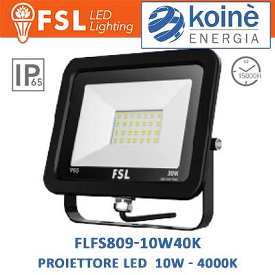 FLFSF809 10W40K proiettore led fsl