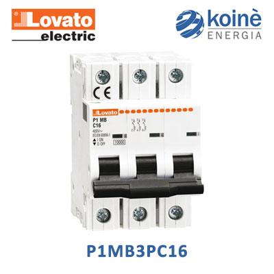 lovato P1MB3PC16 magnetotermico