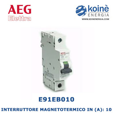 E91EB10 INTERRUTTORE MAGNETOTERMICO AEG ELETTRA