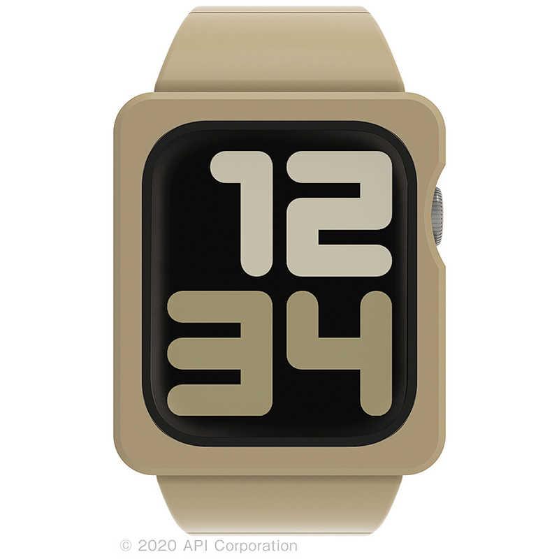 アピロス eyle tile apple watch band case 44mm beige for series 6 5 4 se eyle xea03 tl be