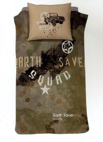 Damai dekbedovertrek hoes Earth Saver camouflage