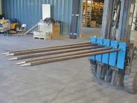 Carpet Poles Attach to the Forklift for Easy Carpet Transport