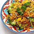 Kruidige curry bulgur salade