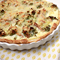 Quiche met broccoli, cottage cheese & tonijn