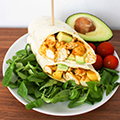 Wrap met kip, avocado en mango