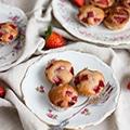 Aardbeien-yoghurt muffins