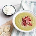 Courgette soep met ricotta