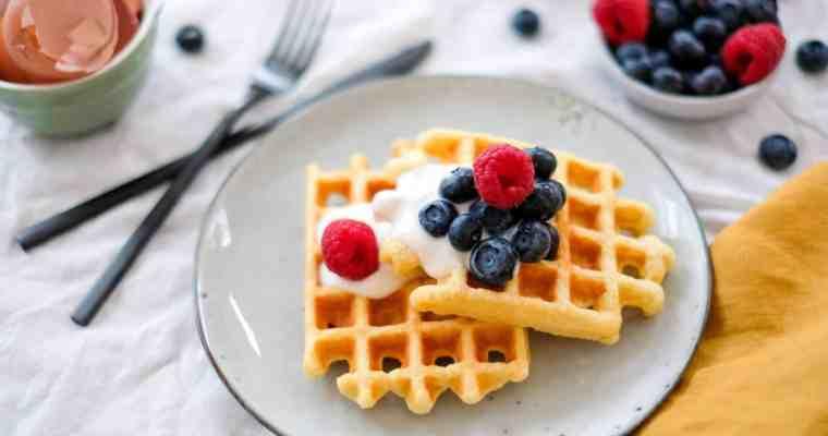 Ontbijt wafels met amandelmeel