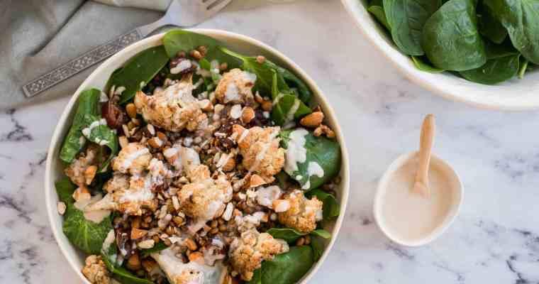 Geroosterde bloemkool salade