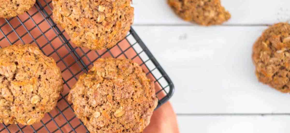 Gezonde wortel koekjes