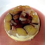 Flan de huevo con peras al vino. Koketo