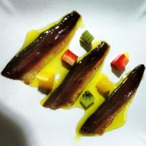 Sardinas en salazón de cítricos y romero