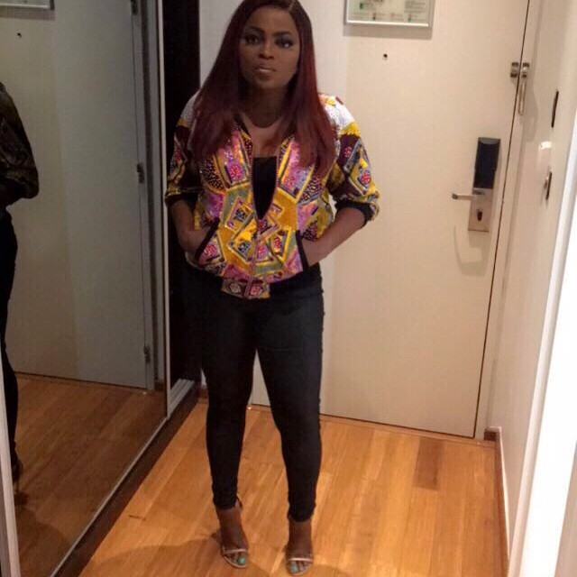 Style Stalking: Funke Akindele Is Simply Chic In A Colourful Jacket 1