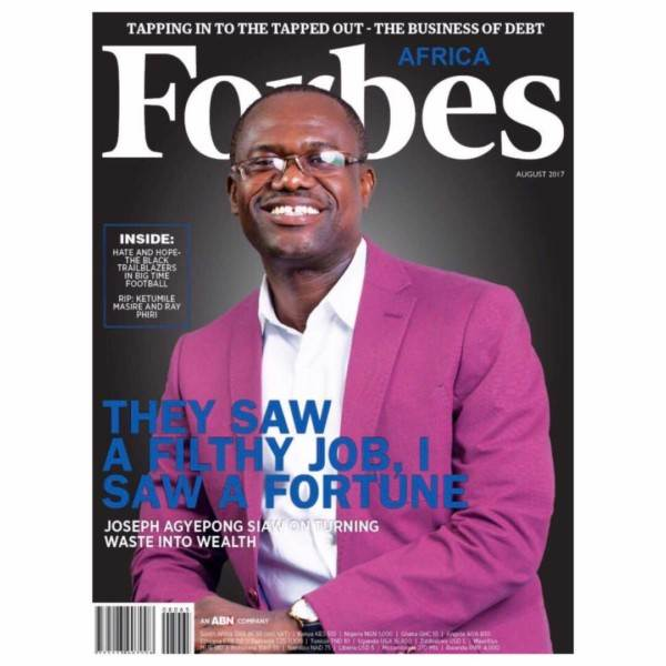 """Ghanian Entrepreneur Joseph Agyepong Siaw Covers """"Forbes Africa Magazine"""" August Edition 1"""