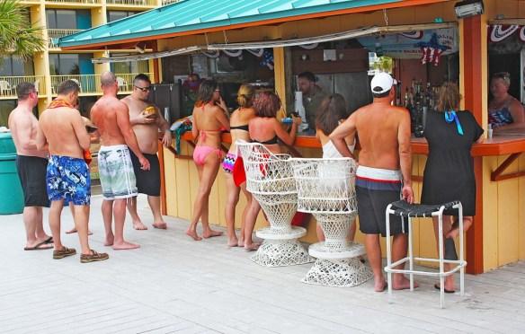 Ramada Inn Tiki Bar right on the beach.